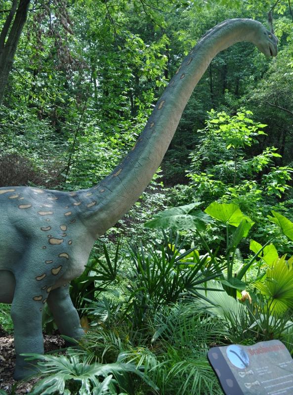 Giant dinosaurs roar i...