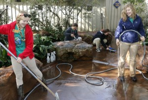Dallas Zoo Conservation guide teenagers help clean