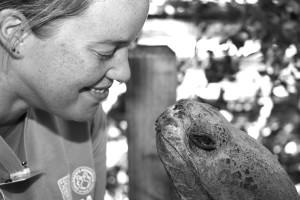 Reptile keeper Shana Fredlake