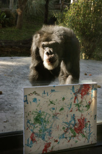 _MG_5825-Doyle chimp with painting