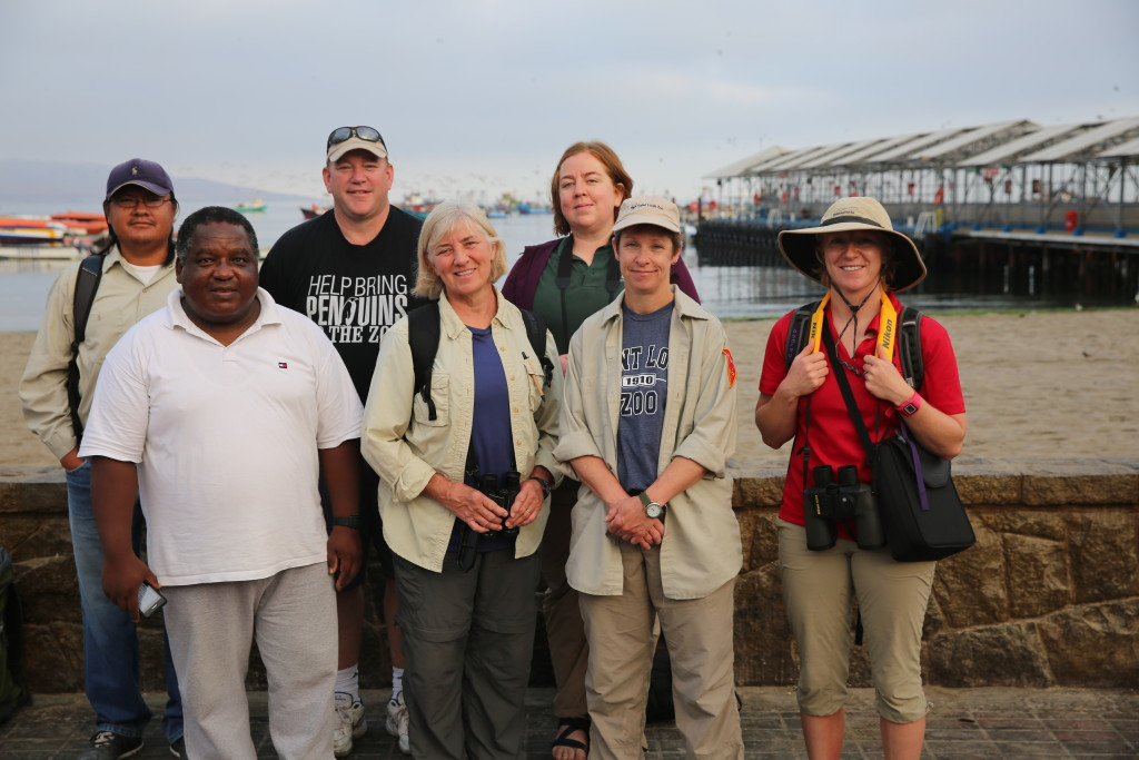 Dr. Patty McGill pictured second from left, front row, with team of researchers from institutions including Kansas City Zoo and Saint Louis Zoo.