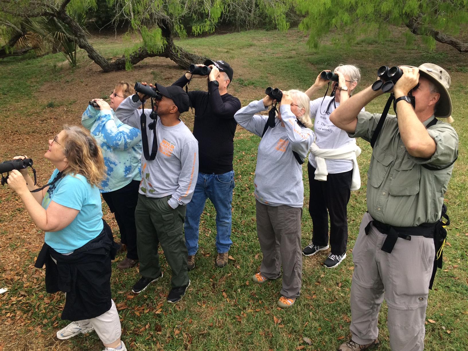 The Wild Earth Action Team birding in Blucher Park