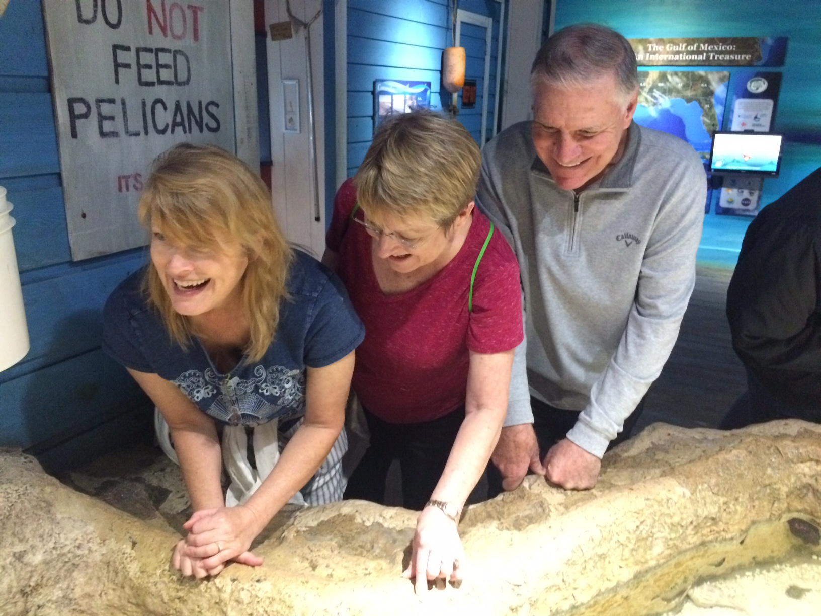 Volunteers enjoy a visit to Dyers Aquarium